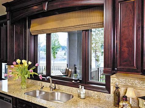 window treatment ideas for kitchens kitchen window ideas