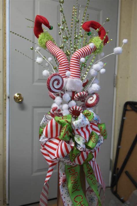 elf legs christmas tree topper ready  ship tree