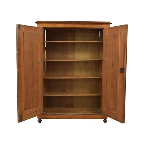 Wardrobe With Shelves by 85 Wood Wardrobe Armoire With Shelves Storage
