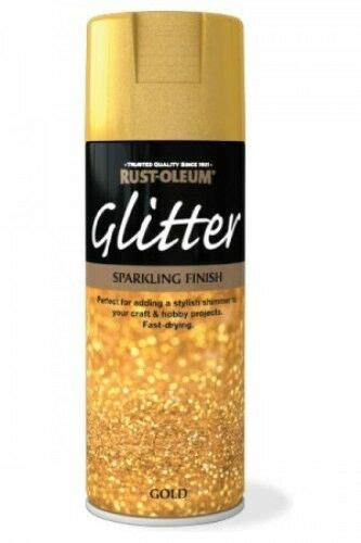 gold glitter sparkling finish rust oleum fast dry spray