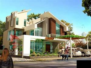 house 3d interior exterior design rendering modern home With home design interior and exterior