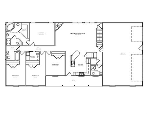 3 floor plans 100 ranch floorplans 3 bedroom ranch floor plans floor
