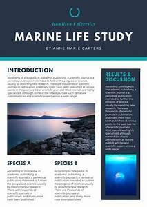Blue Modern Scientific Poster