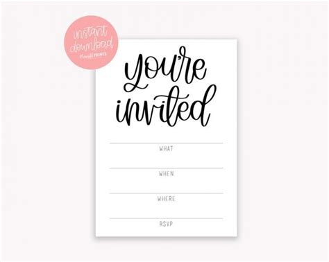 Invitation Template You Are Invited 4 Things You Should