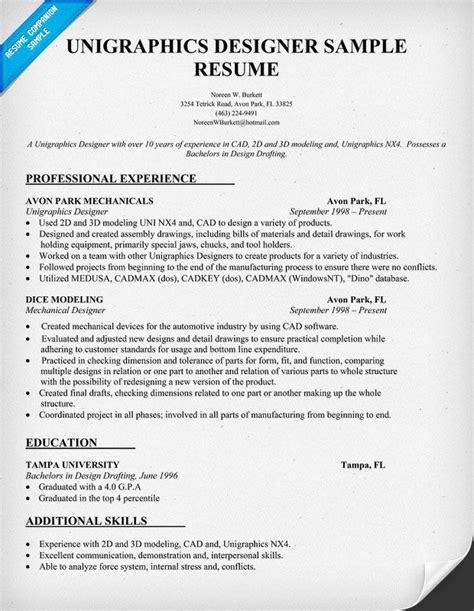 Interaction Designer Resume by Unigraphics Designer Resume Template Resumecompanion