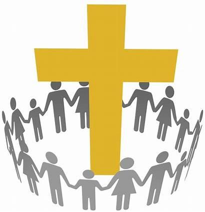Faith Community Church Clipart Cross Congregation Circle