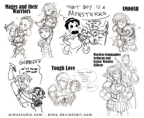 Dragon Age Kink Meme - da2 chibis and sketchies by aimo on deviantart