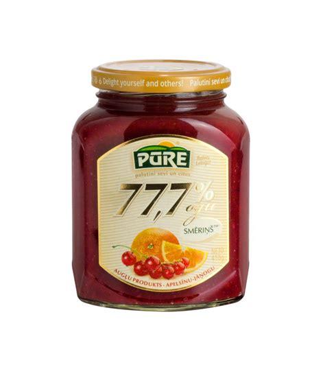 Apelsīnu-jāņogu smēriņš 77,7 % - Pūre