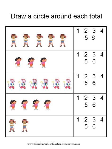 Dora The Explorer Number Worksheets