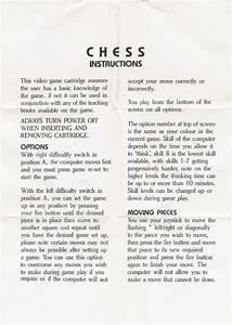 Atari 2600 Vcs Chess   Scans  Dump  Download  Screenshots