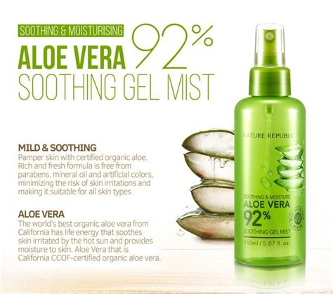 Harga Nature Republic Soothing Gel Mist nature republic aloe vera 92 soothing gel mist 150ml