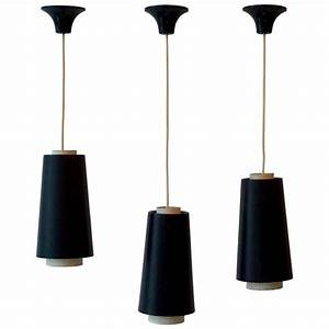 Set of three pendant lights for sale at stdibs