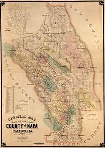 Official Map Of The County Of Napa  California   Compiled