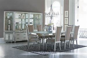 AICO Bel Air Park Crystal Dining Set Collection