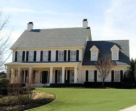 plan ge classic colonial house plan  upstairs master suite colonial house plans