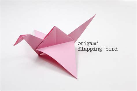 origami flapping bird tutorial