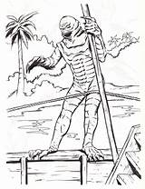 Creature Coloring Lagoon Universal Monsters Studios Monster Getcolorings Printable Else sketch template