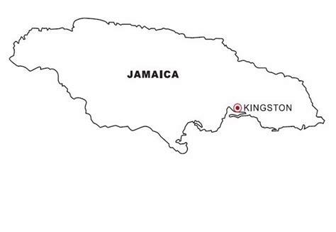 map  jamaica coloring color area