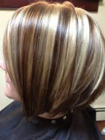 Chocolate Brown Hair with Chunky Blonde Highlights