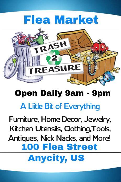 trash  treasure flea market template postermywall