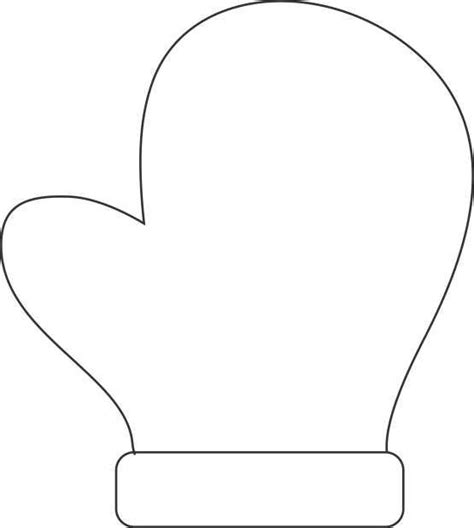 Mitten Template Make A Handprint Mitten Decoration Activities For Jungle