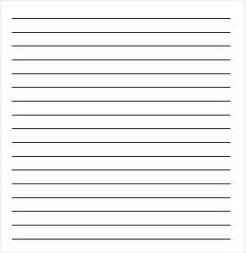 Free Printable Lined Paper Template in Word
