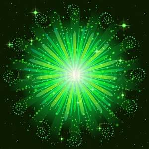 Firework, holiday background of bright green colors on ...
