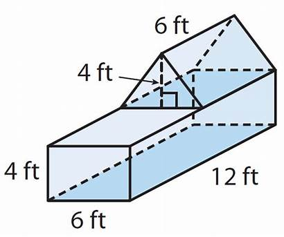 Volume Composite Prism Worksheet Solids Rectangular Figure