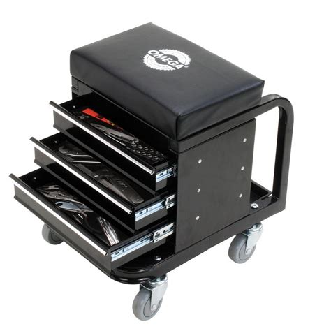 Mobile Garage Door Mechanic by Omega 450 Lbs Mechanic S Toolbox Seat 92450 The Home Depot