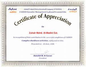appreciation certificate certificate templates With template for a certificate of appreciation
