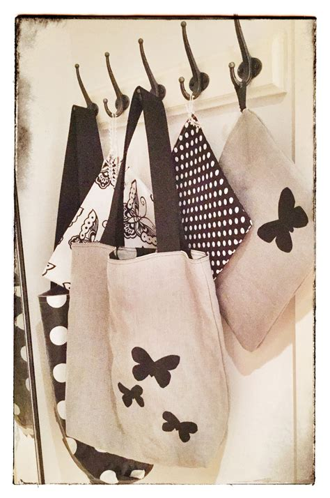 blackgreywhite textile gifts reversible shopping tote