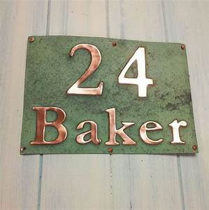 real copper address plaque made to order 3quot numbers and With letters for address signs
