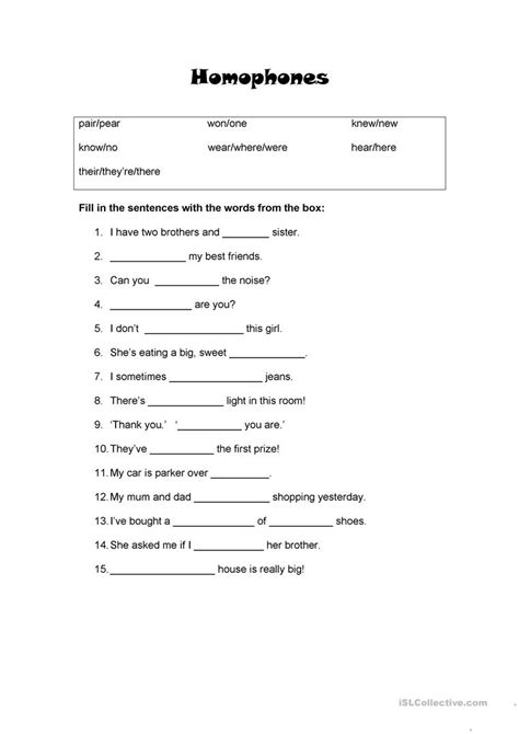 worksheet homophones worksheets grass fedjp worksheet