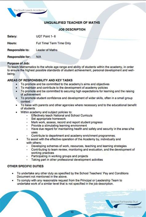 Student Teaching Resume Description by Student Description Resume