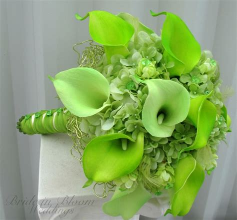 lime green wedding lime green wedding bouquet real touch