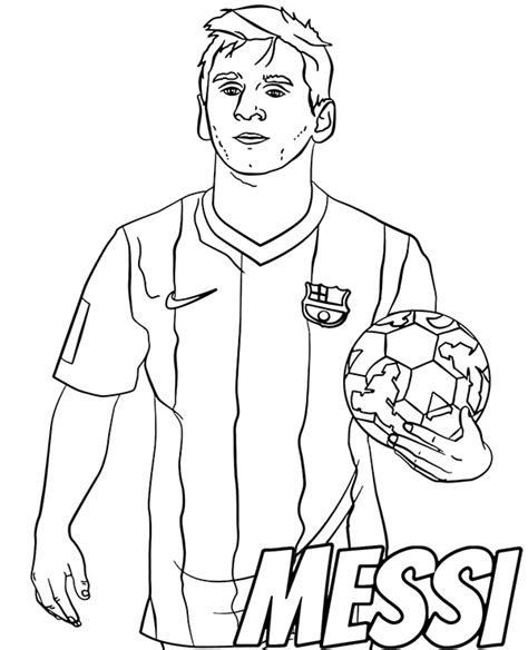 Lionel Messi Soccer Coloring Page