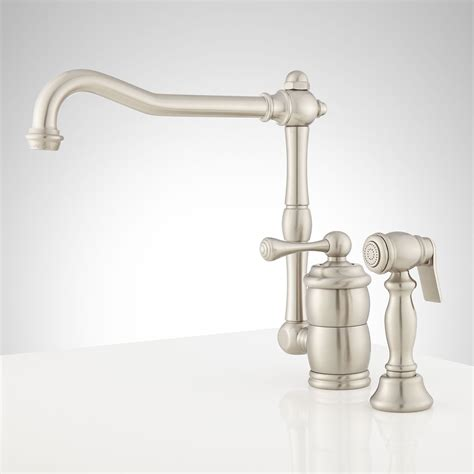 kitchen sink faucet size one kitchen faucet with sidespray 8481