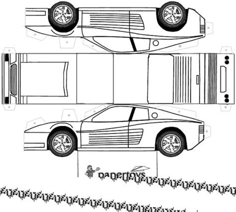vehicle templates paper toys cartype