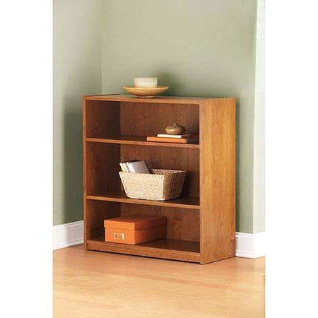 3 shelf bookcase walmart mainstays 3 shelf bookcase in alder wood finish walmart