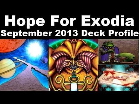 hope for exodia deck profile september 2013 tcg list how