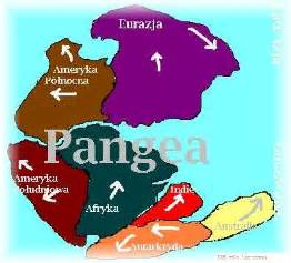 Map of Pangea Supercontinent