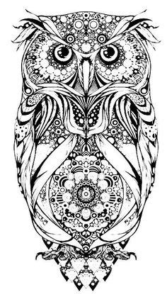Pretty owl with a heart lock and key drawing | Drawing/Art