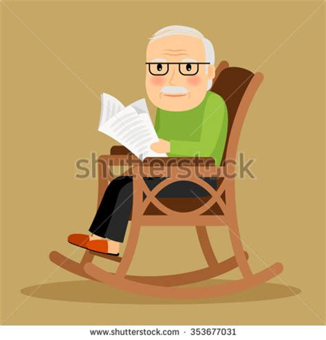 reading rocking chair pict knitting knits knitting stock vector