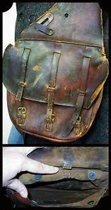 Vintage Leather 1917 Us Cavalry Saddlebags Antique