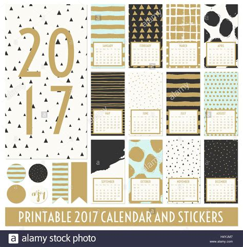 Calendar Month Template Hand by Twelve Month 2017 Calendar Template Hand Drawn Patterns
