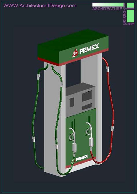 Dispense Autocad by 3d Designs Of Gas Station Autocad Collection