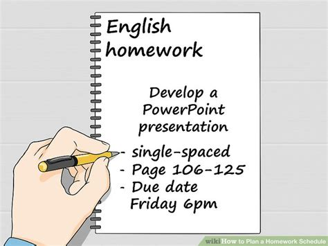 Do All Homework by How To Plan A Homework Schedule With Pictures Wikihow