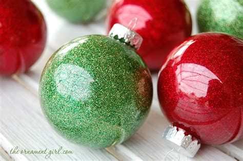 glitter ornaments handmade with clear plastic bulbs