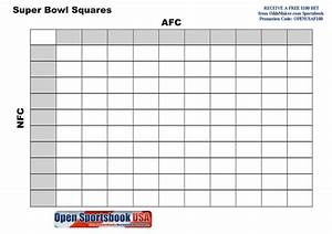 blank super bowl squares template blank super bowl bars With free super bowl pool templates
