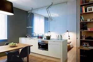 Aménagement Petit Appartement : optimiser l espace dans un appartement de 35 m2 marie claire ~ Nature-et-papiers.com Idées de Décoration